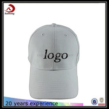 custom embroidery on blank white promotional baseball cotton cap manufacturer