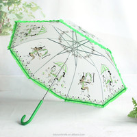 2015 new designed Transparent Stick Umbrella