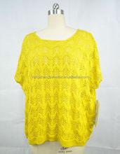 Heavyweight Round Collar Customized Cotton/Cashmere Like 100 Acrylic Sweater