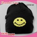 100% الجملة السوداء القطن قبعة صغيرة قبعة قبعة الشتاء