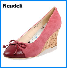 Wedge High Heels Shoes Sheepskin Leather Women Shoes Fashion Sexy casual shoes For spring summer