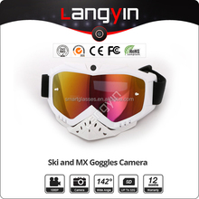 High quality extreme sport full HD 1080p sport camera goggles for snowboard and Motocross