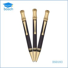Promotional items hot ballpoint metal ball pen golden black pen