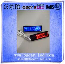 hd digital screen single color small mini electronic chest plastic p2mm led small name/massage badge