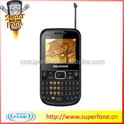 dual sim phones S3332 from china 2.2 inch newest qwerty keyboard support TV