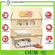 Plastic coated wire storage basket , hanging basket wholesale