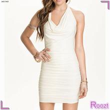2015 New Style White Halterneck Ladies Dress Cheap Summer Dresses Australia