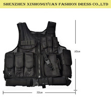 military black color and waterproof quick release vest