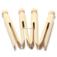 10Pcs Wooden Parts Clothes Doll Pins Clips Old Fashioned Pegs Doll Making Craft