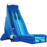 dry slide/inflatable slide/Inflatable 36'Dry Slide Dual Lane Blue Crush