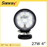 5 Inch Round 27W LED Work Light Lamp Bar for car,12 volt new 27w car led tuning light/ led work light for offroad vehicle