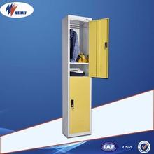 Green Military Storage High Quality Knock Down 2 Door Metal Locker