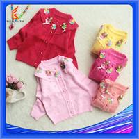 Kids Cardigan Coat Wool Handmade Sweater Design For Girl