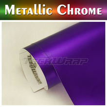 TeckWrap Matte Metallic Chrome Car Sticker, stretching car self adhesive vinyl for wrapping cars