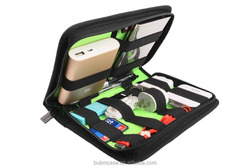 NEW ARRIVED BUBM black Mobile HD bag USB Flash Drive /Hard Disk / Electrician Tool/TRAVEL Organizer Storage MINI CUTE Bag