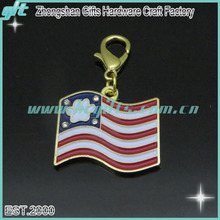 America keychain gifts item: promotional gifts custom flag shaped metal keychain/key ring