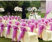 Hot Sale Romantic Wedding Purple Organza Sashes