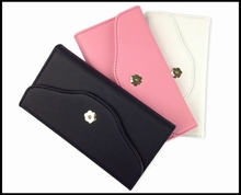 Metal Button Wallet Style Designed for Girls 2 Way Mobile Phone Case For Iphone5/5S/5C/6/6 Plus/6S/6S Plus