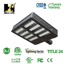 300W LED shoe box for large parking lots, tennis courts, building perimeters and wall washing.