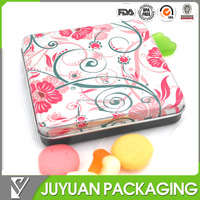 Wholesale square candy/mint metal tin box with high quality