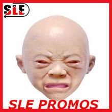 Halloween cry a latex full head baby face masks