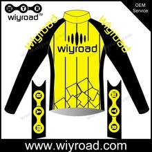 Free samples jacket for riding a bike/long sleeve cycling jersey china/waterproof cycling jersey