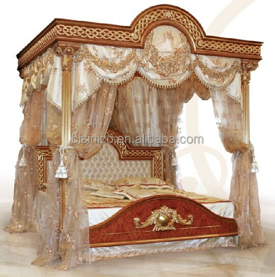 italian royal bedroom furniture luxury upholstered canopy. Black Bedroom Furniture Sets. Home Design Ideas