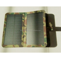 CE Rohs certificated 3.5w 5w 7w portable solar cell phone charger with USB output