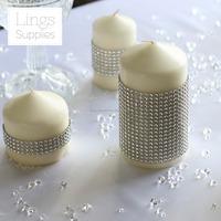 Diamond Rhinestone Ribbon Bling Crystal Diamond Mesh Wrap F Vintage Wedding Decoration