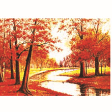 Factory Direct New Product Beautiful Red Maple Forest 3d Picture