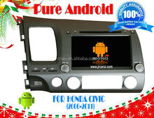 Pure Android 4.2 car dvd player for HONDA CIVIC left (2006-2011)RDS,Telephone book,AUX IN,GPS,WIFI,3G,Built-in wifi dongle