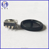 smd type 10mm rotary encoder with black plastic roller for volume control