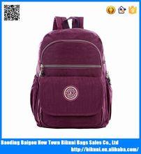 Korea fashion girls back packs bags nylon cheap school backpack bags for teens