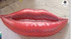 2015 Custom special design 1.5m inflatable hanging red lip
