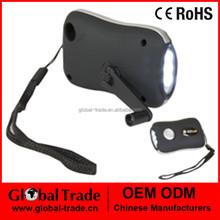 3 LED Wind Up Dynamo Torch Flashlight Camping Light Ultra Bright Lantern A0063