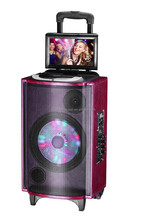 DJ speaker Active speakers with Screen,disco lighted,DVD, Bluetooth, light,Mic,---with TUV CE/RoHs/REACH/ R&TTE