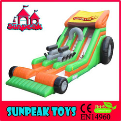 SL-1308 Inflatable Bouncy Amusement Playground and Racing Fun Kids Bouncy Castle with Double Slides