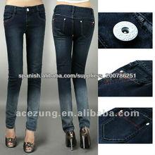 2013 de moda hotsale especial flaco lavado de mezclilla pantalones de jeans para dama