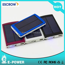 10000 mah Solar Power Bank Panel Portable Charger