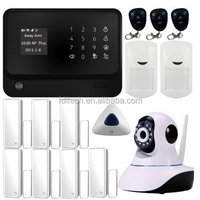 Integrated with wifi IP camera optional GSM network APP LCD yard security alarm system