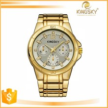 2015 kingsky 120013A# wholesale thin geneva watch japan movt water resistant with quartz movement