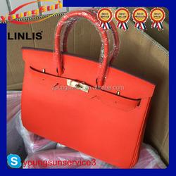 Hot sale lastest design wholesale genuine leather ladies big size handbag for shopping travelling