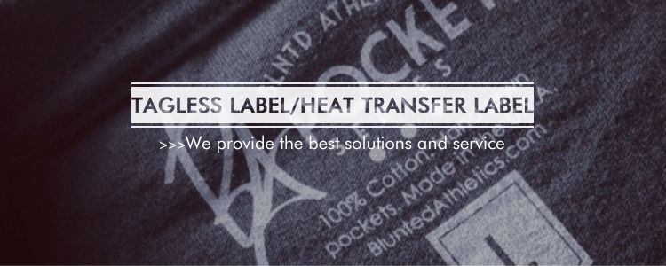 Customed tagless heat transfer clothing labels view for Heat press shirt labels