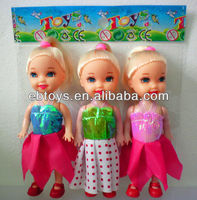 Shantou 3.5 inch baby doll with variety of clothes