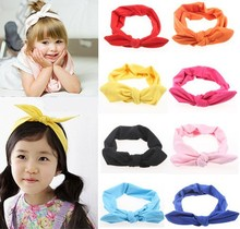 Europe style hot sale girls hair headband boutique cotton baby girls headbands