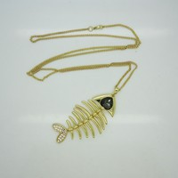 bone carving fish hook pendant for necklace maori design lucky fish necklace