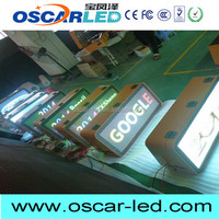 HD Wireless 3G USB WIFI asychronous p5 programmable led moving signs taxi led topper sign taxi roof top advertising signs