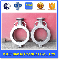butterfly valve body good quality smooth surface ductile cast iron