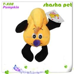 Pumpkin plush squeaker pet toy,cat sex toys,pet product,pet shop