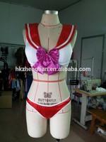 Walson xxxxl fancy dress Ladies red sailor moon mars bra set costume Lingerie